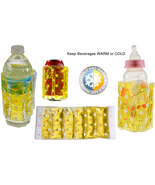 COLD or WARM Bottle or Can Wrap - Microwave & Freezer-safe - $8.90
