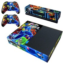 Regular Xbox One Console Vinyl Decals Wrap Stickers Skin Rockman Mega Man 11 - $12.38