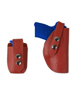 NEW Barsony OWB Burgundy Leather Holster + Mag Pouch Colt Small 380 Ultr... - $69.99