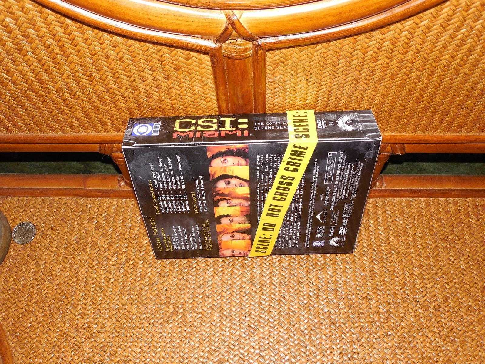 CSI MIAMI WITH BLONDE CALLEIGH COMPLETE SEASON  2 SET  DELUXE 7 DVD PICTURE CASE