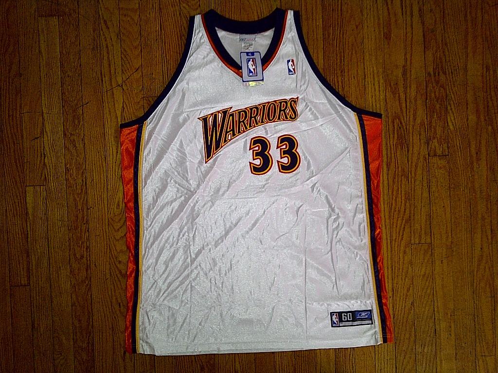 Authentic Reebok Golden State Warriors Jamison-White/Orange/Blue Home Jersey 60