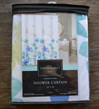 Cynthia Rowley Floral Blue, Green and White Shower Curtain - $33.95