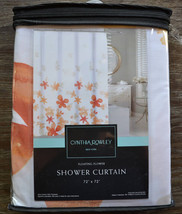 Cynthia Rowley Floral Orange and White Shower Curtain - $33.95