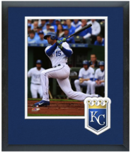 Alex Rios 2015 Kansas City Royals - 11 x 14 Team Logo Matted/Framed Photo - $42.95