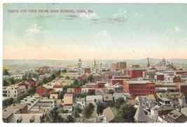 York PA Birds Eye from High School 1911 Vintage Postcard - $4.99