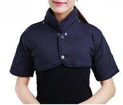 Shoulder Warmer Wrap with Removable Collar, Neck and Shoulder Pain Relief Dark b - $19.06