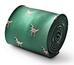 Frederick Thomas dark green tie with trex dinosaur design FT3337 jurassic