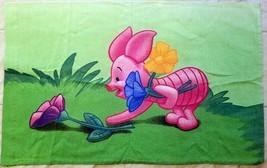 Disney Piglet Picking Flowers Standard Pillowcase Winnie the Pooh Green ... - $18.81