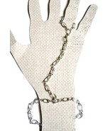 Silver Figure Eight Chain Slave Bracelet with Chain Ring Attached - $25.00