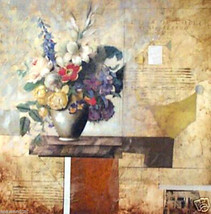 John Douglas: Floriculture V; Original Mixed Media - $750.00