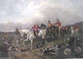 Fox Hunting - The Find by John Herring; Rare Etching - $650.00