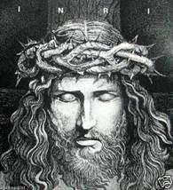 INRI by Gary James; Rare Wax Print Head of Christ - $12.00