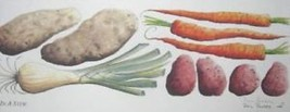In a Stew by Phil Ponder; Carrots, Potatoes, Kitchen - $45.00