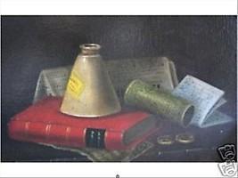 Red Book by Norka; Original Oil Still Life - $850.00