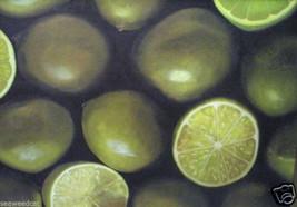 Limes by Ronda Biffert -  Beautiful Fruit Still Life - $770.00