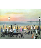 Evening on the Promenade by Helen Bradley - $650.00
