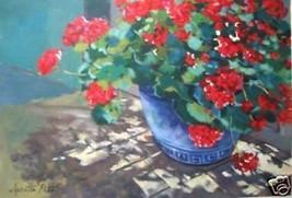 Geraniums by Annette Pate; Original Floral - $925.00