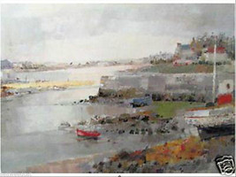 Little Harbor in Brittany by Louis Rosan - $90.00