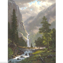 Highland Song by Mark Keathley, ( waterfall, mountains, & stream) - $695.00