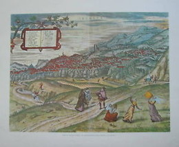 View of Granata (Spain) by Cartographer George Braum - $65.00