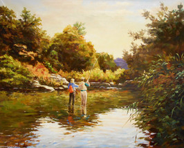 Fishing in the Morning by Jose Lopesalcedo - $1,995.00