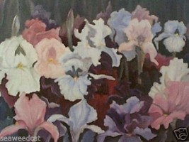Field Of Irises by LaVerne Turner - floral - $65.00