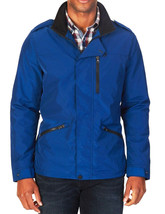 NEW MENS NAUTICA CONCEALED-PLACKET BLUE WATER RESISTANT FIELD JACKET L $198 - $64.34