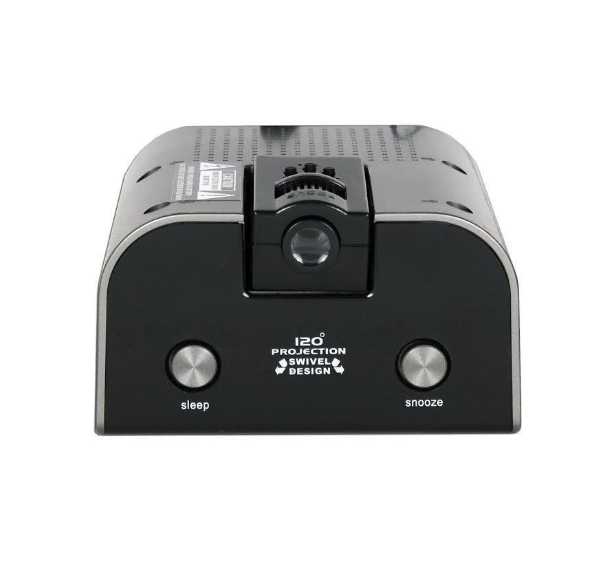 memorex projection alarm clock radio am fm compact adjustable black digital clocks clock. Black Bedroom Furniture Sets. Home Design Ideas