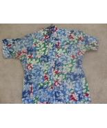 Vintage CHAPS Ralph Lauren Floral Short Sleeve Pocket Button Front Colla... - $2.99