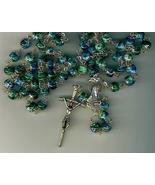 Rosary - Blue Cloisonne Round Bead - L258/BLUE - $27.99