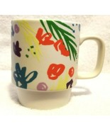 STARBUCKS Coffee Cup Mug ABSTRACT FLORAL Stackable SPRING 12 Ounce  2016 - $14.95