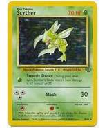 Scyther 10/64 Holo Rare Jungle Unlimited Pokemon Card - $9.89
