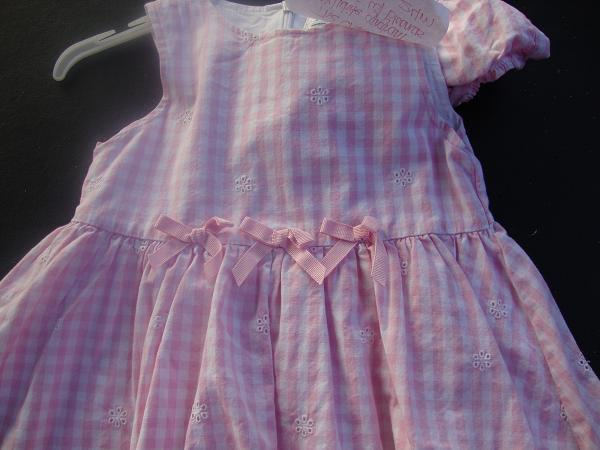 The Children's Place pink and white Dress 24 months