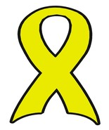Yellow Ribbon 101-Digital Download-ClipArt-ArtC... - $3.85