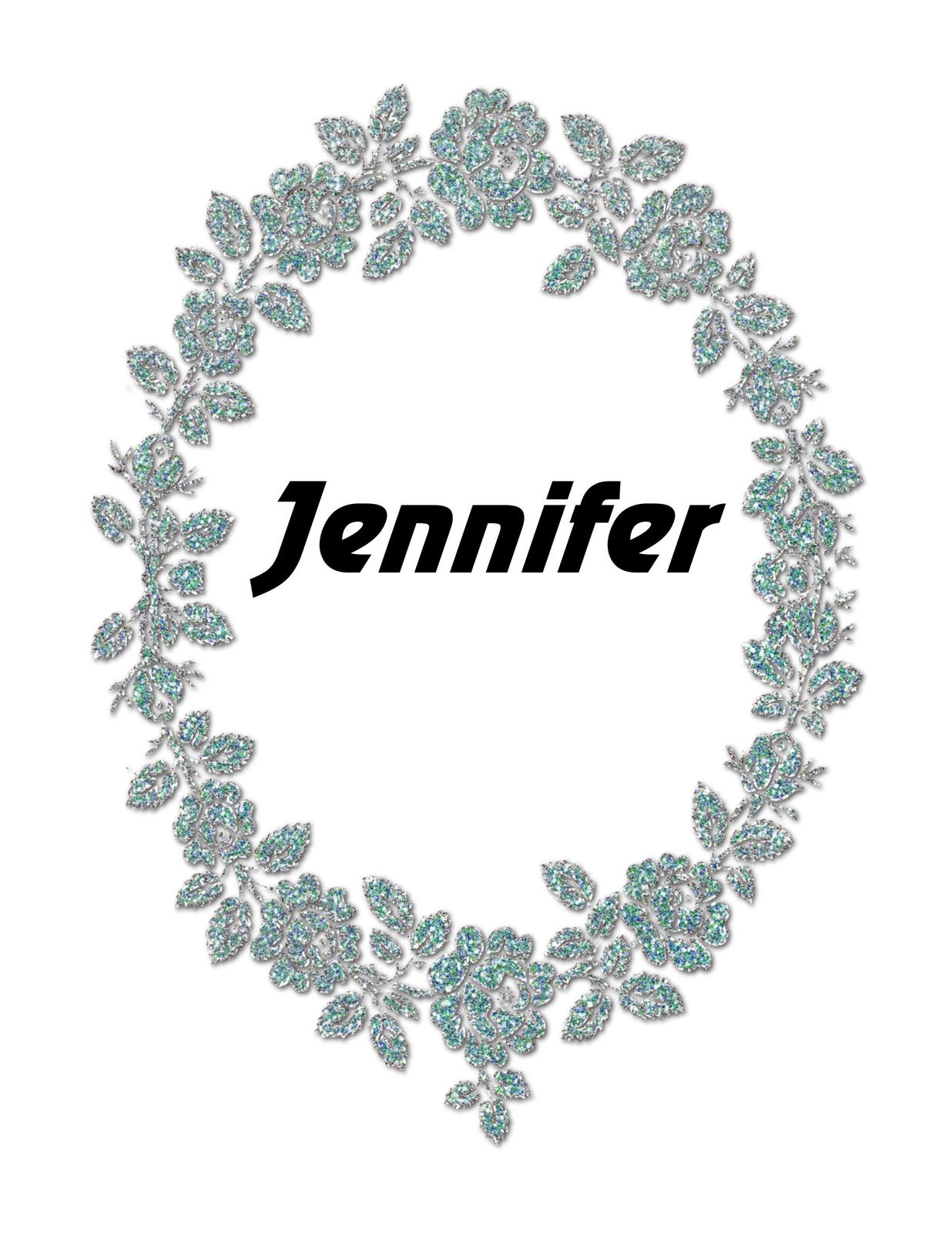 Jennifer Flower Glitter Digital Download ClipArt ArtClip Digital Card Making
