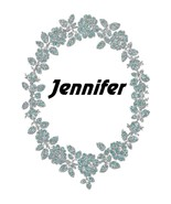 Jennifer Flower Glitter-Digital Download-ClipArt-ArtClip-Digital - $4.00