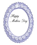 Happy Mothers Day Round Lace-Digital Download-C... - $3.85