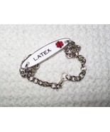 Custom Double Sided Medical Alert Bracelet - $14.00