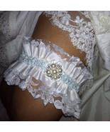 Something Blue Something Old Vintage Ruffled Net Lace & Satin Bridal Wed... - $29.00