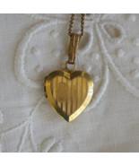 Antique 12k Gold Filled Engravable Heart Locket Necklace Sweetheart Moth... - $60.00