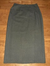 Ann Taylor Studio Womens A Line Pencil Skirt Size 10 Gray Lined Straight - $12.99