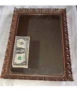 """Vintage 16"""" x 10.5"""" Gold-Toned Metal Filigree Footed Vanity Mirror Makeu... - $32.18"""