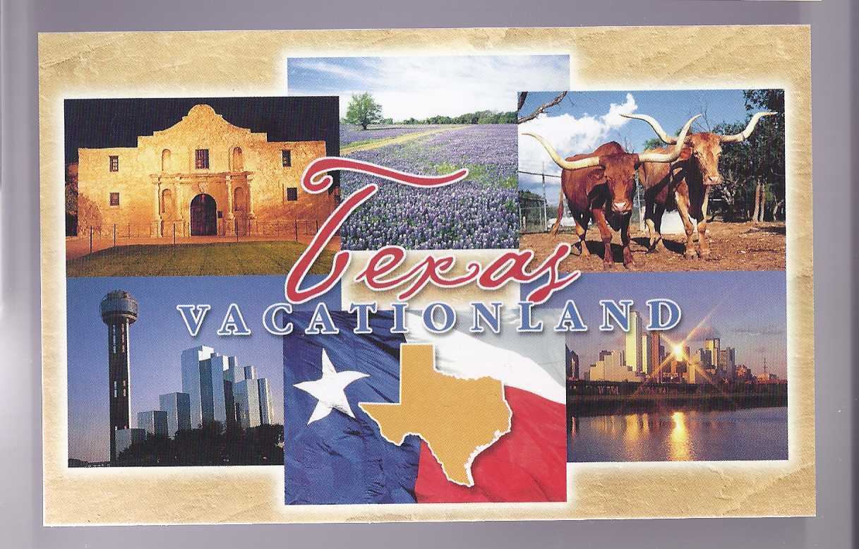 Postcard texas vacationland