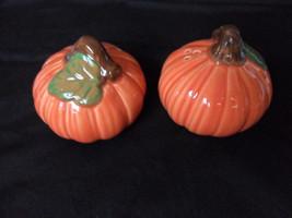 "Pumpkin Salt & Pepper Shakers 3"" New in box !  1993"" - $12.69"