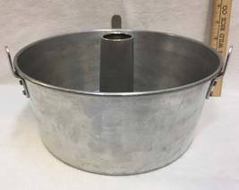 "Angel Food Cake Pan Baking Aluminum Removable Center Insert 10"" Vintage - ₨816.97 INR"