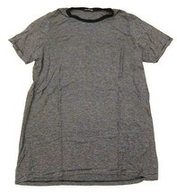 Brandy Melville Cassie T Shirt Black & Gray Mini Stripes One Size Made i... - $17.80