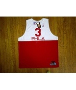 Authentic Reebok Philadelphia Sixers 76ers Allen Iverson - White/Red Jer... - $149.99