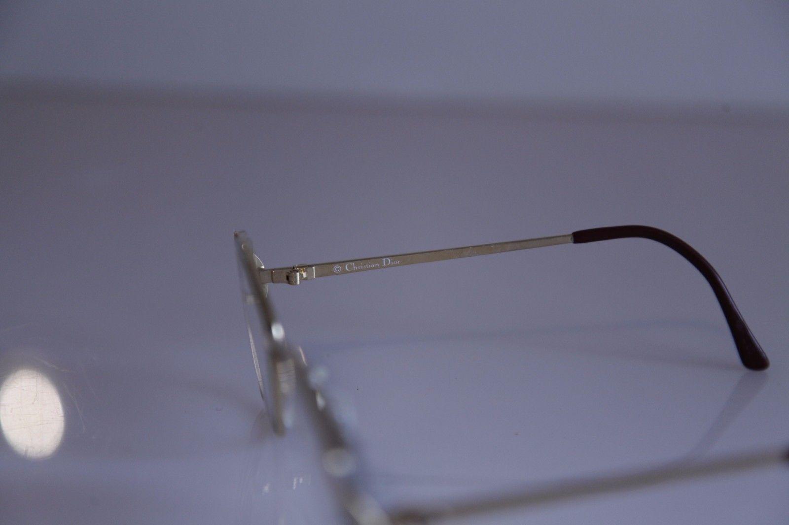 Vintage CHRISTIAN DIOR Eyewear, Gold Frame, RX-Able Prescription lens. Austria 2