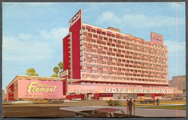 1967 Hotel Fremont Las Vegas Nevada Vintage Litho Postcard - $4.95