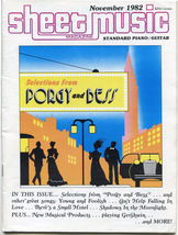 Porgy and Bess 1982 Sheet Music Magazine - Piano with Guitar Workshop - $4.95
